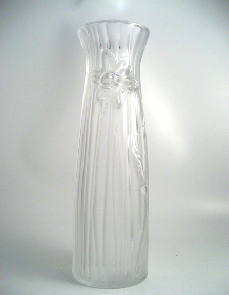 Lalique Daffodil Vase Clear