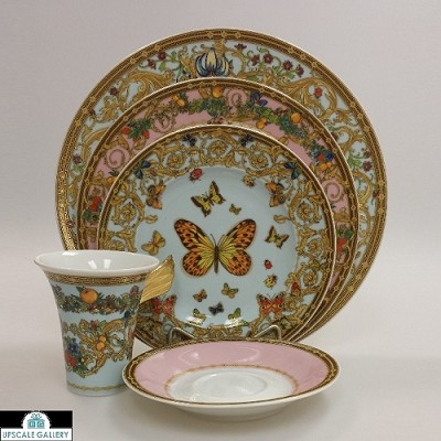 Versace Le Jardin Butterfly Garden High Cup 5pc Place Setting