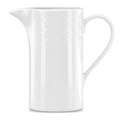 "LENOX OPAL INNOCENCE CARVED Pitcher 8.5"", 80 oz."