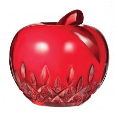 Waterford Apple Paperweight Red