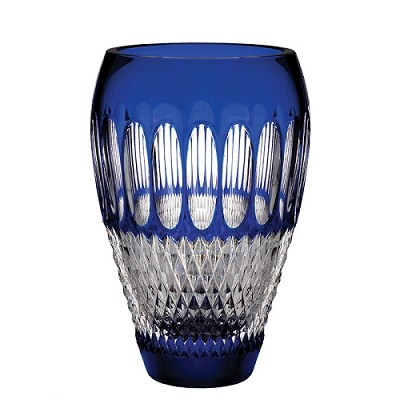 Waterford Colleen Cobalt 60th Anniversary Vase 8""